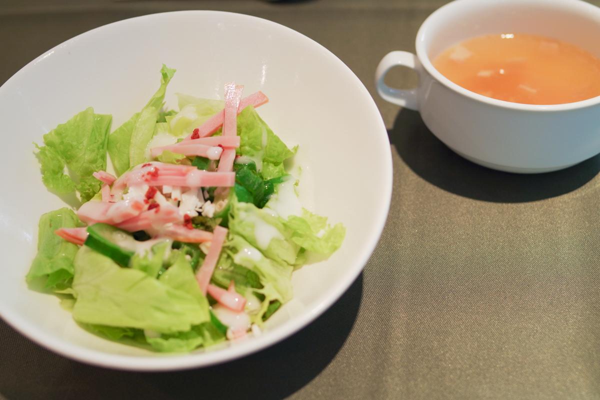 オンワード総合研究所「イオスガーデン」の日替わりサラダ&スープ
