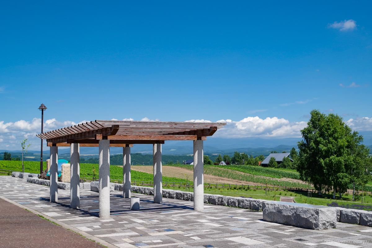 北西の丘展望台の景色