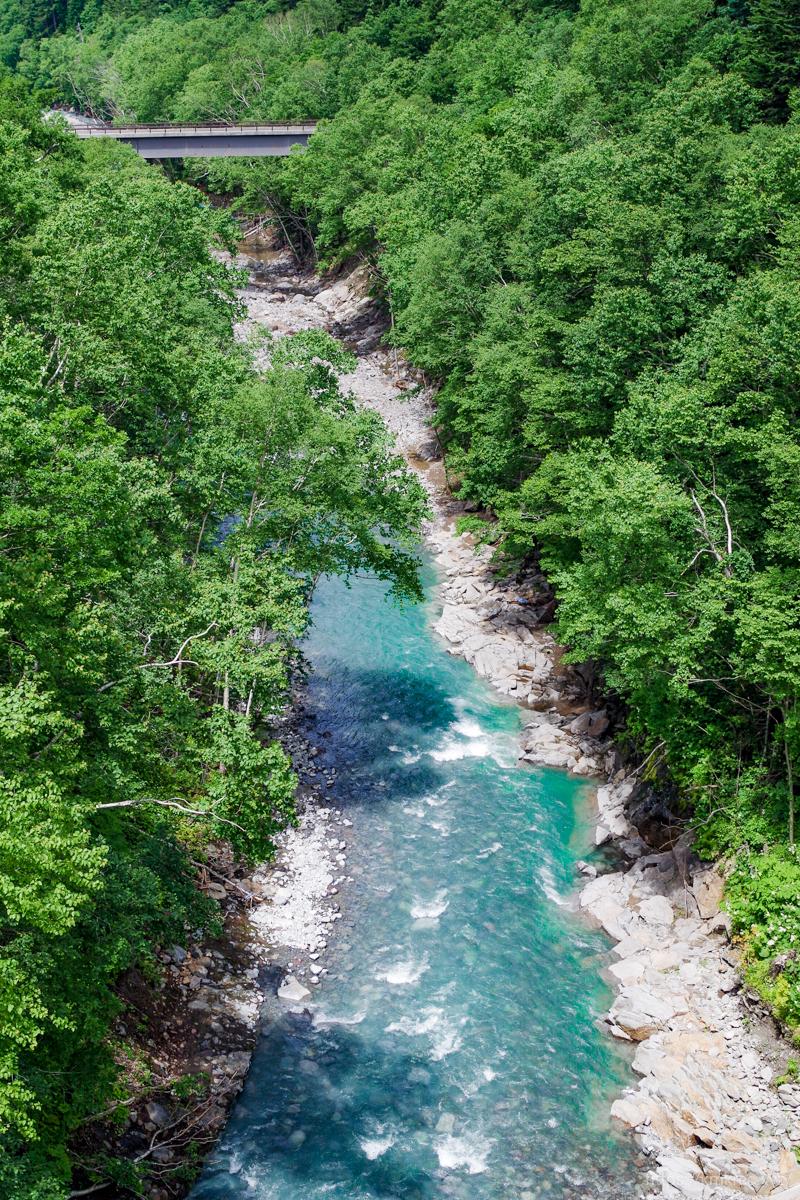 白ひげの滝近くの川