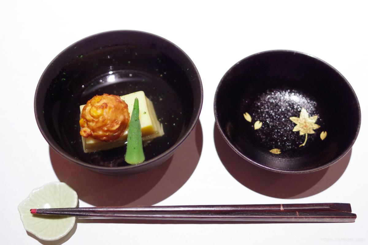 とうもろこしの葛豆腐