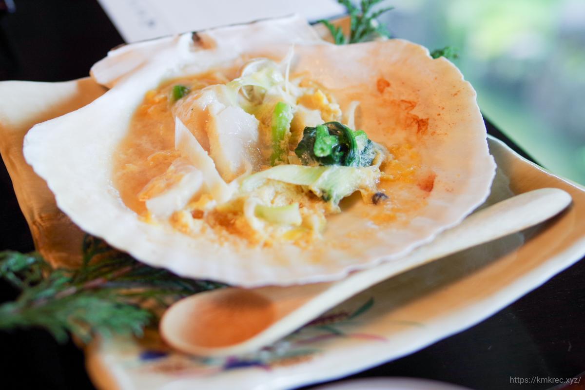 津軽の郷土料理「貝焼き味噌」